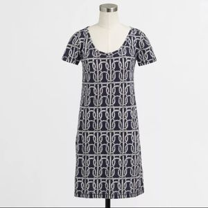J.Crew Navy Blue Rope Print Nautical Dress